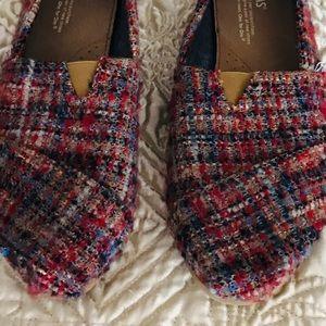 Tweed traditional tom slip on's